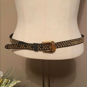 Black Gold Studded Belt by Streets Ahead